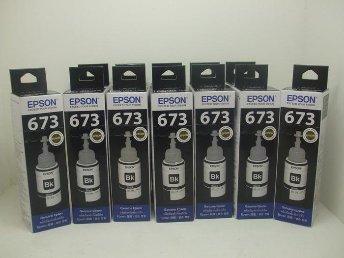 Tinta Printer Epson Original 673 L800 L805 L850 L1800 T6731 Black 6731