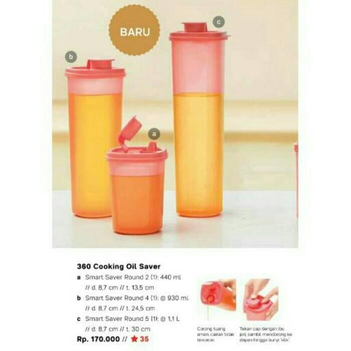 Compact Cooking Oil - Tempat minyak / sirup Tupperware