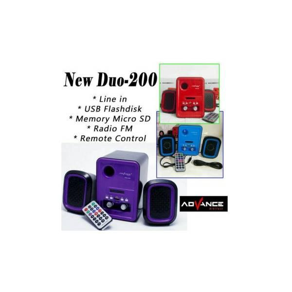 Hot Promo Advance Duo 200 Remot Speaker Mini Active Subwoofer Memory Radio USB Speaker Aktif