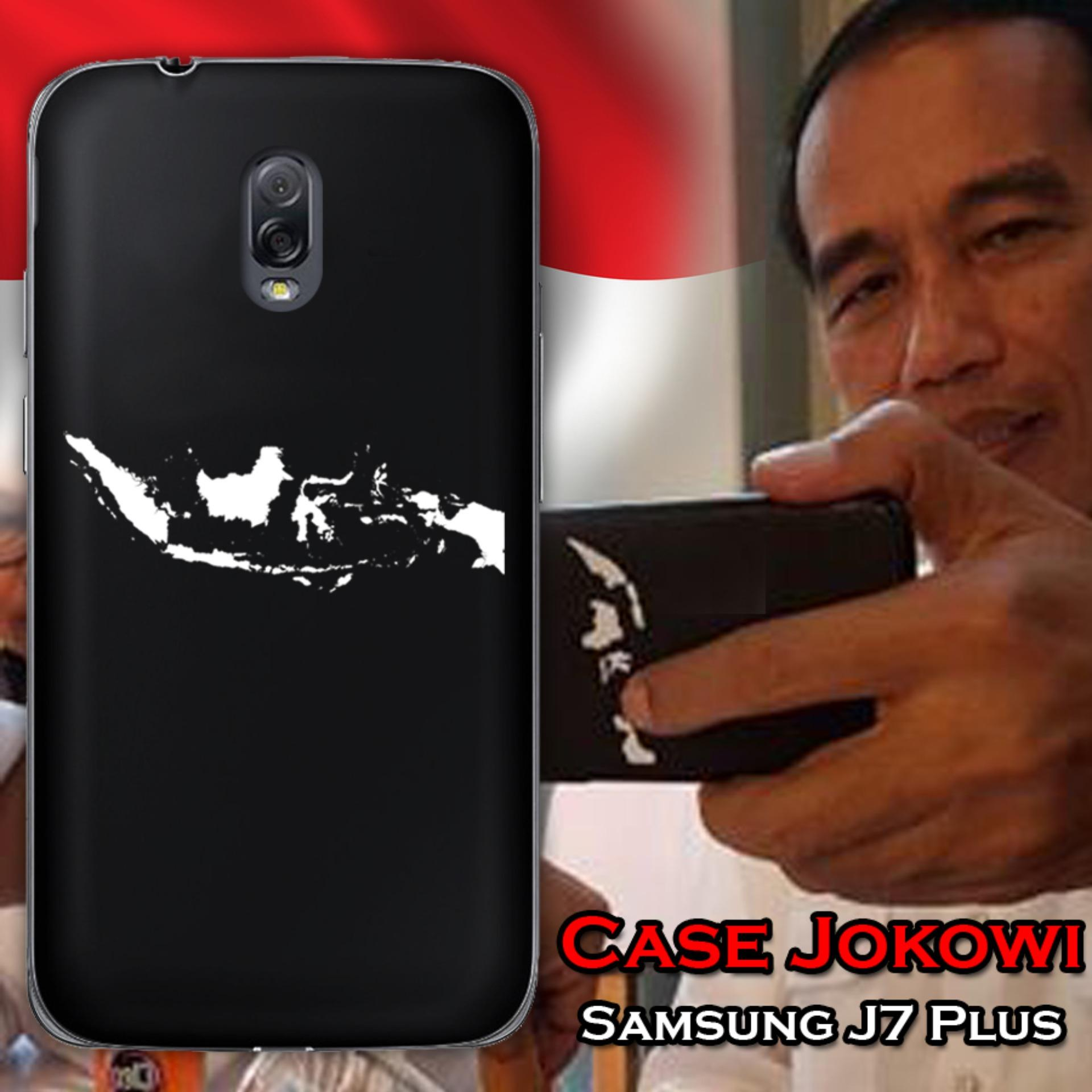 Case Presiden Jokowi for Samsung Galaxy J7 Plus - Hitam