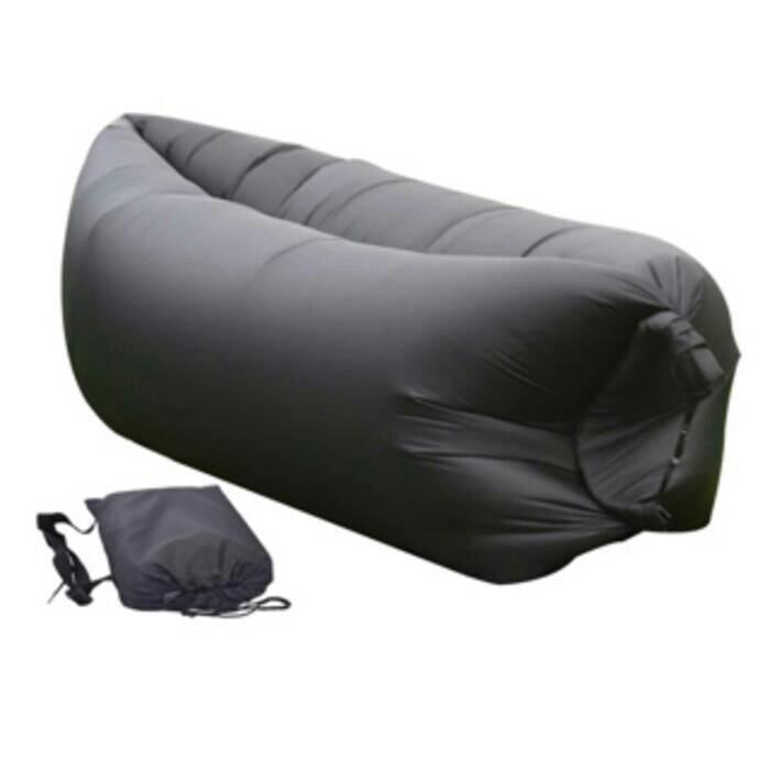 Winnia - Sofa Malas Air Bag / Kasur Angin Lamzac / Kursi Malas ( HITAM )