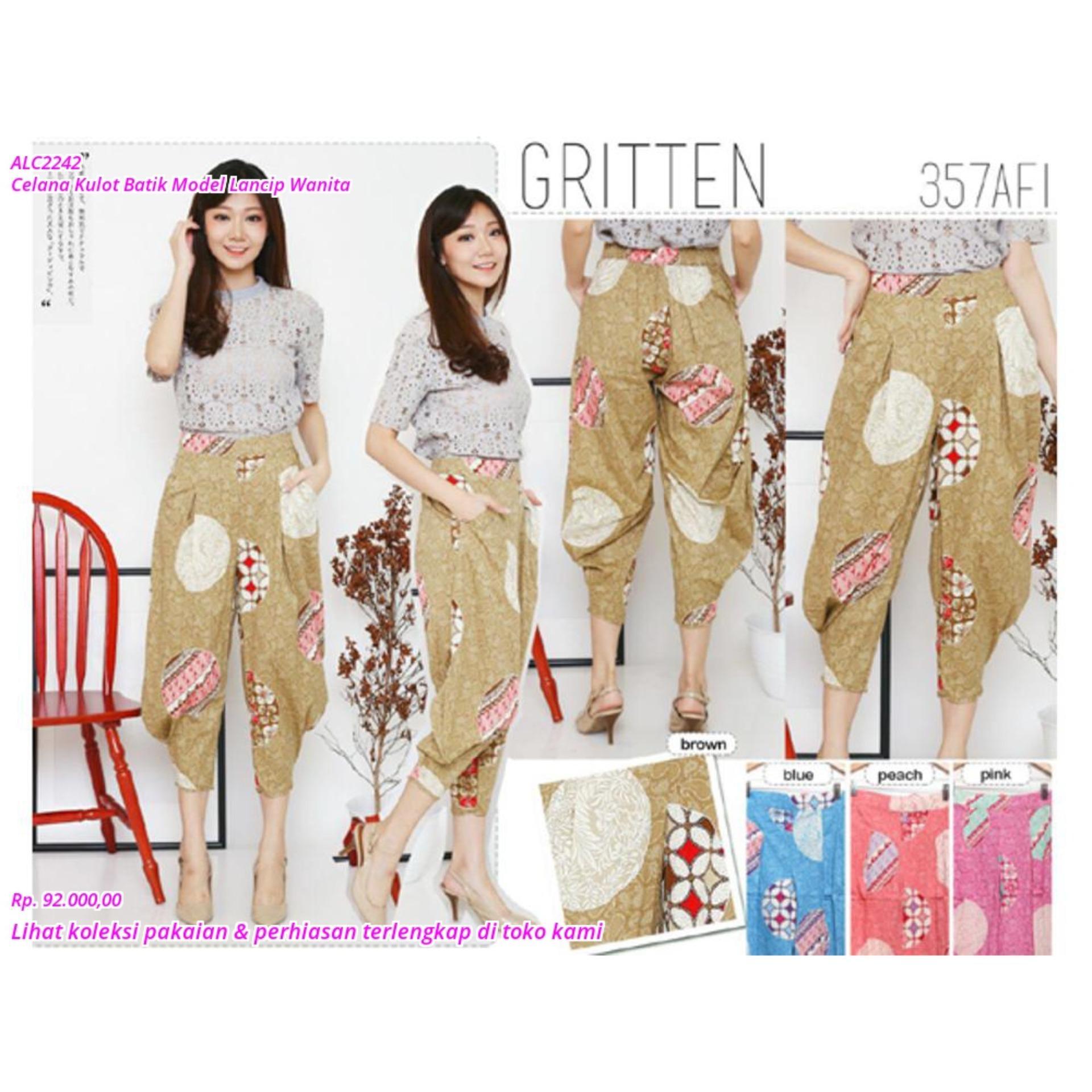 SALE Celana Kulot Batik Model Lancip Wanita TERMURAH