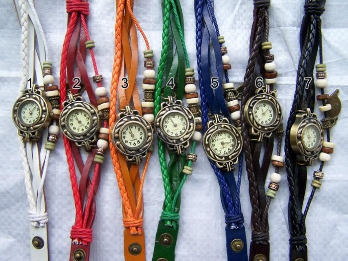 Jam Tangan vintage tribal indian gelang etnik unik fashion bandul tali