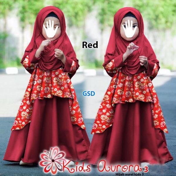 Wow keren - fashion anak perempuan / gamis anak / dress anak / muslim anak  / dress anak aurora