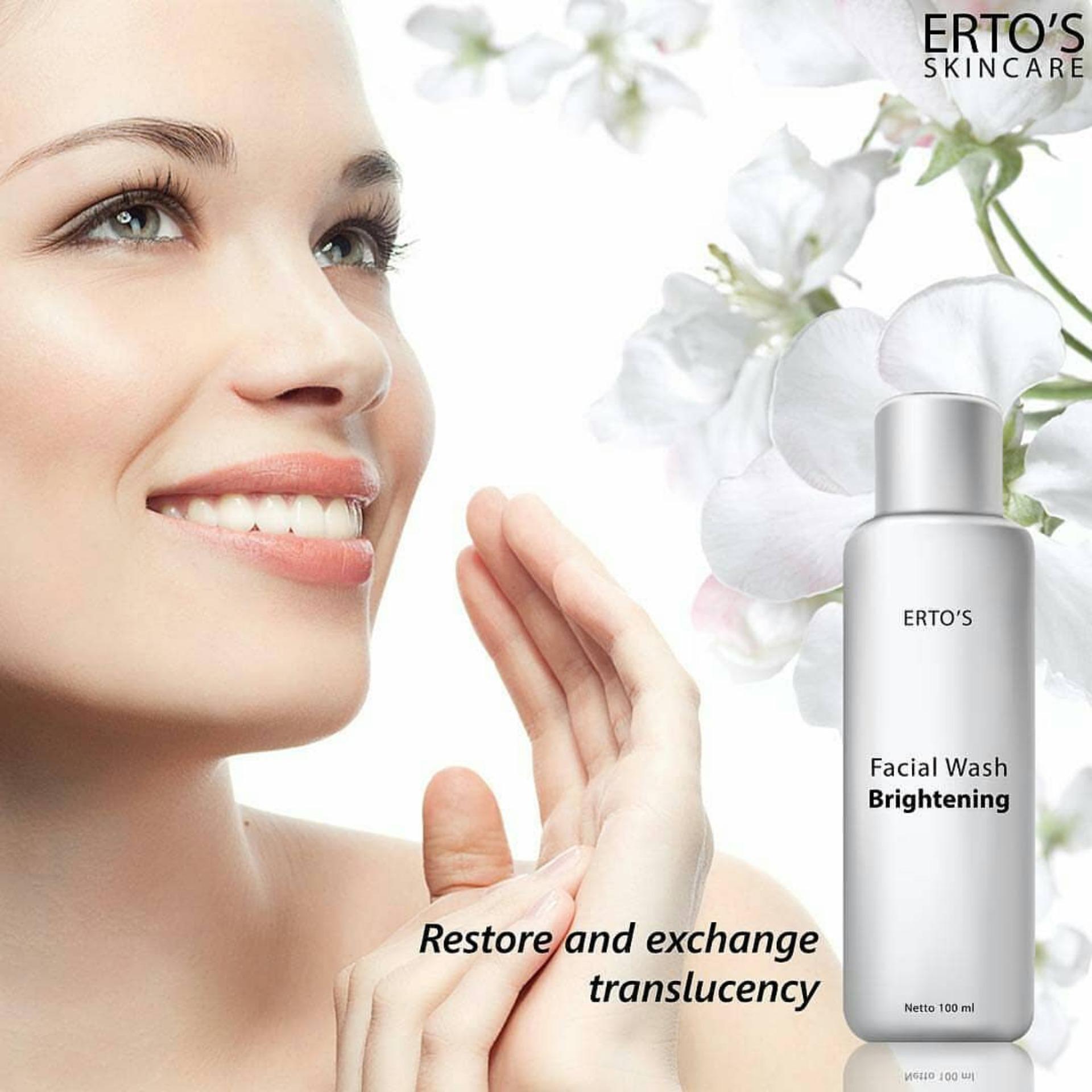 Referensi Harga Ertos Facial Treatment Sj0020 November 2018 Pembersih Wajah Wash Brightening Sabun Cuci Muka Skincare Original Bpom
