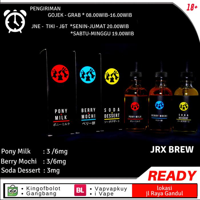 Liquid Soda Desert Pony Milk Berry Mochi From JRX BREW 60ml