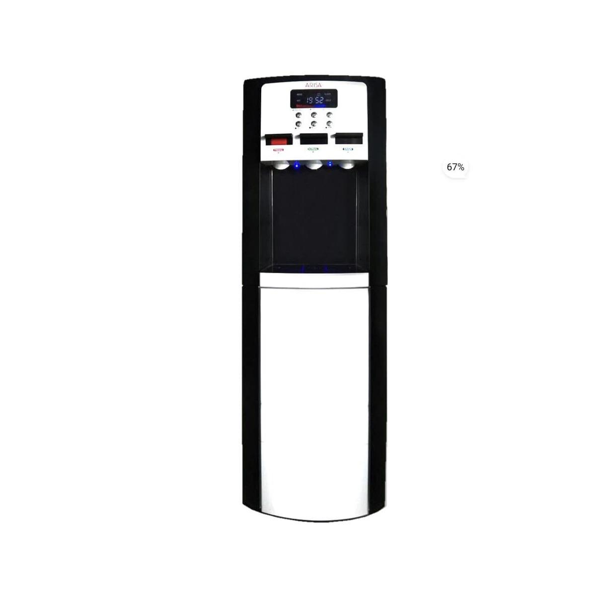 Arisa wd-0912T Dispenser Galon atas Stainless Led display Low watt