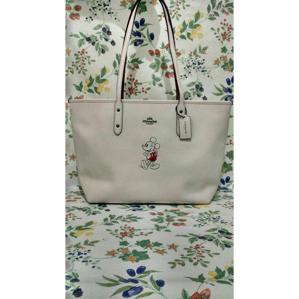 Ready Tas Coach Limited Edition City Zip Mickey Tote Original