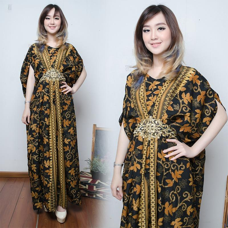 Miracle Dress Maxi Selva Longdress Kaftan Gamis Jumbo Batik Wanita