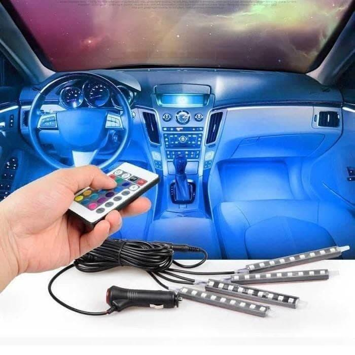 Lampu LED Kolong Mobil RGB Lampu Dashboard 16 Warna + Remote