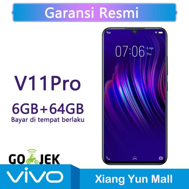 Vivo V11 Pro 6G/64G - Screen Touch ID  AI Dual Rear Camera Garansi resmi