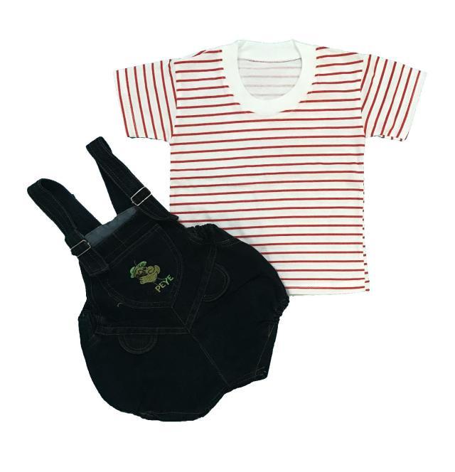 BAYIe - Setelan Baju model Jumper/Romper/ Hansop Anak/Bayi Laki-laki/Perempuan bahan Jeans NEW AGE umur 1 - 2 tahun