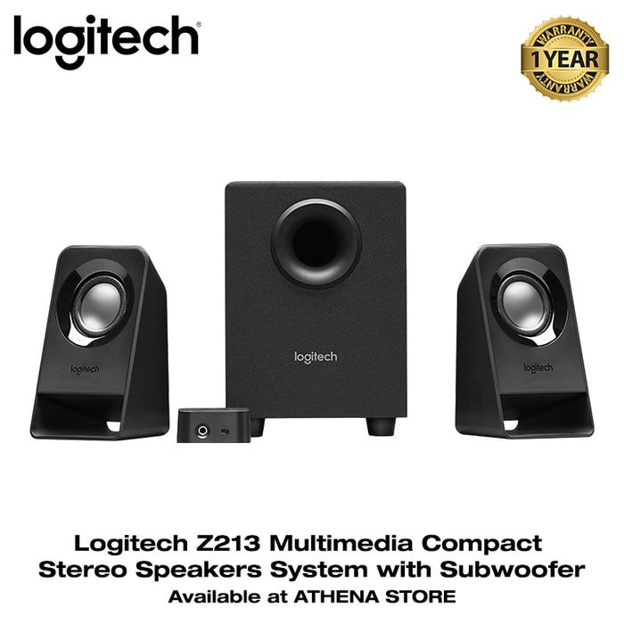 Referensi LOGITECH Z213 Multimedia Compact Stereo Speakers System with Subwoofer speaker aktif / speaker laptop / speaker super bass