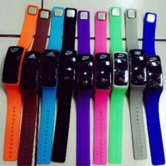 JAM LED NEW NIKE , ADIDAS , PUMA / JAM TANGAN GELANG LED NEW PRODUK