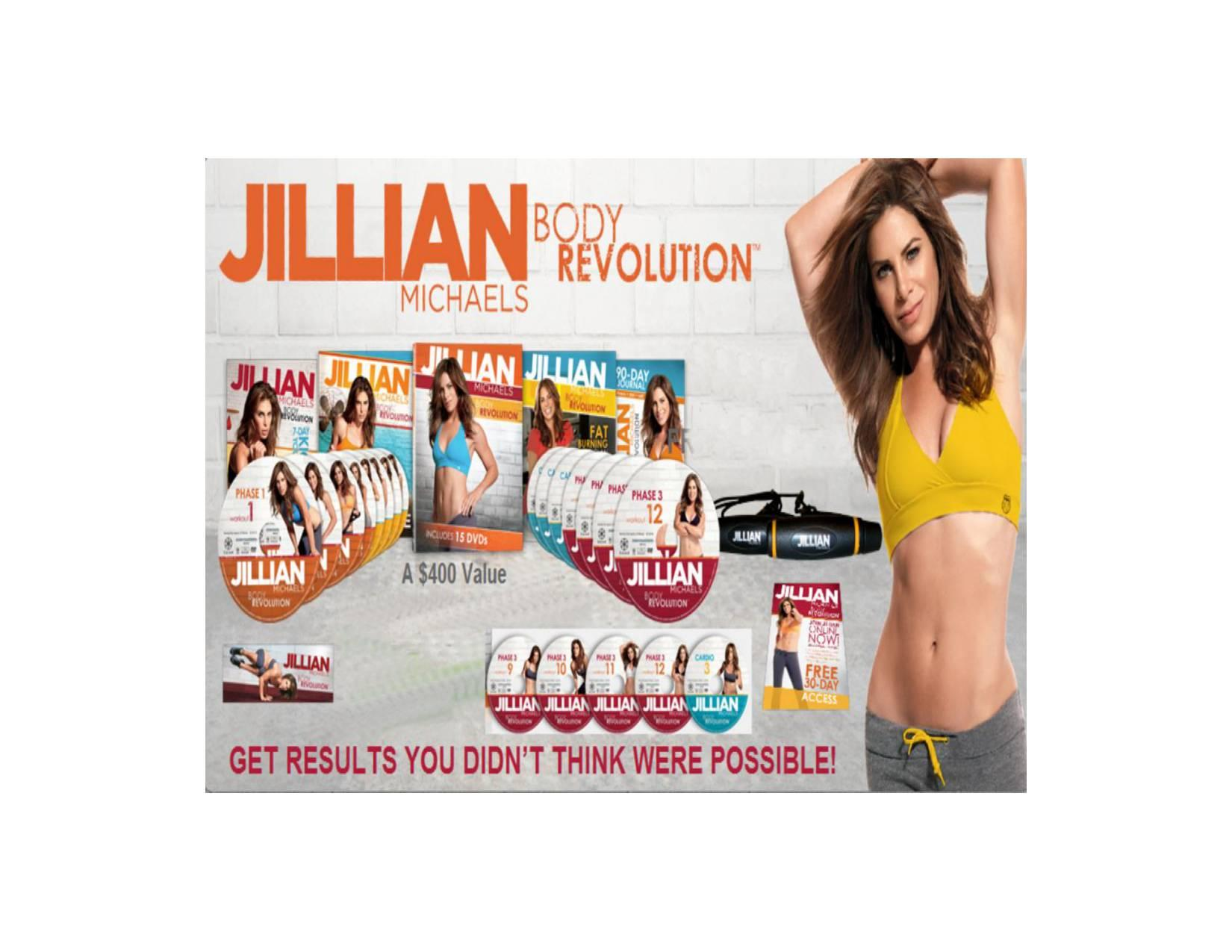 HOT ITEM!!! Body Revolution Jillian Michaels 15DVDRip dlm Flashdisk