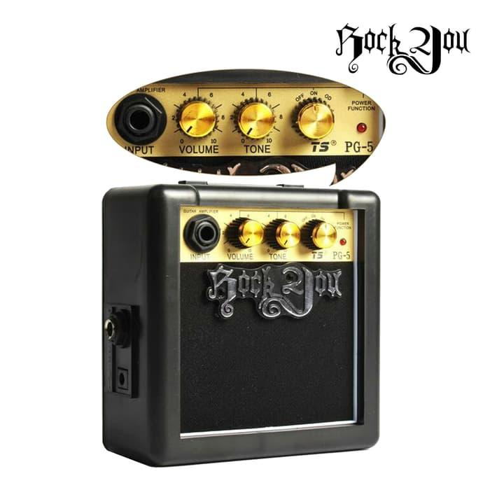 Amplifier Gitar / Mini Ampli Gitar Elektrik dan Akustik Rock You PG-5