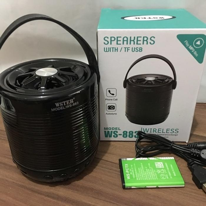 Speaker Wireless Bluetooth USB Memori WS883 merk WSTER