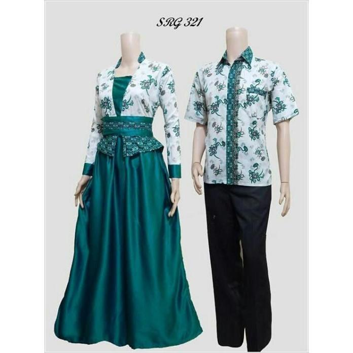 Baju Batik Couple / Baju Muslim Wanita Terbaru 2018 / Gamis Wanita Terbaru / Batik Sarimbit / Baju Batik Kondangan / Batik Couple / Hem Batik / Batik Pekalongan / Batik Murah / Batik Couple Murah / Setelan Batik Couple  SRG 321