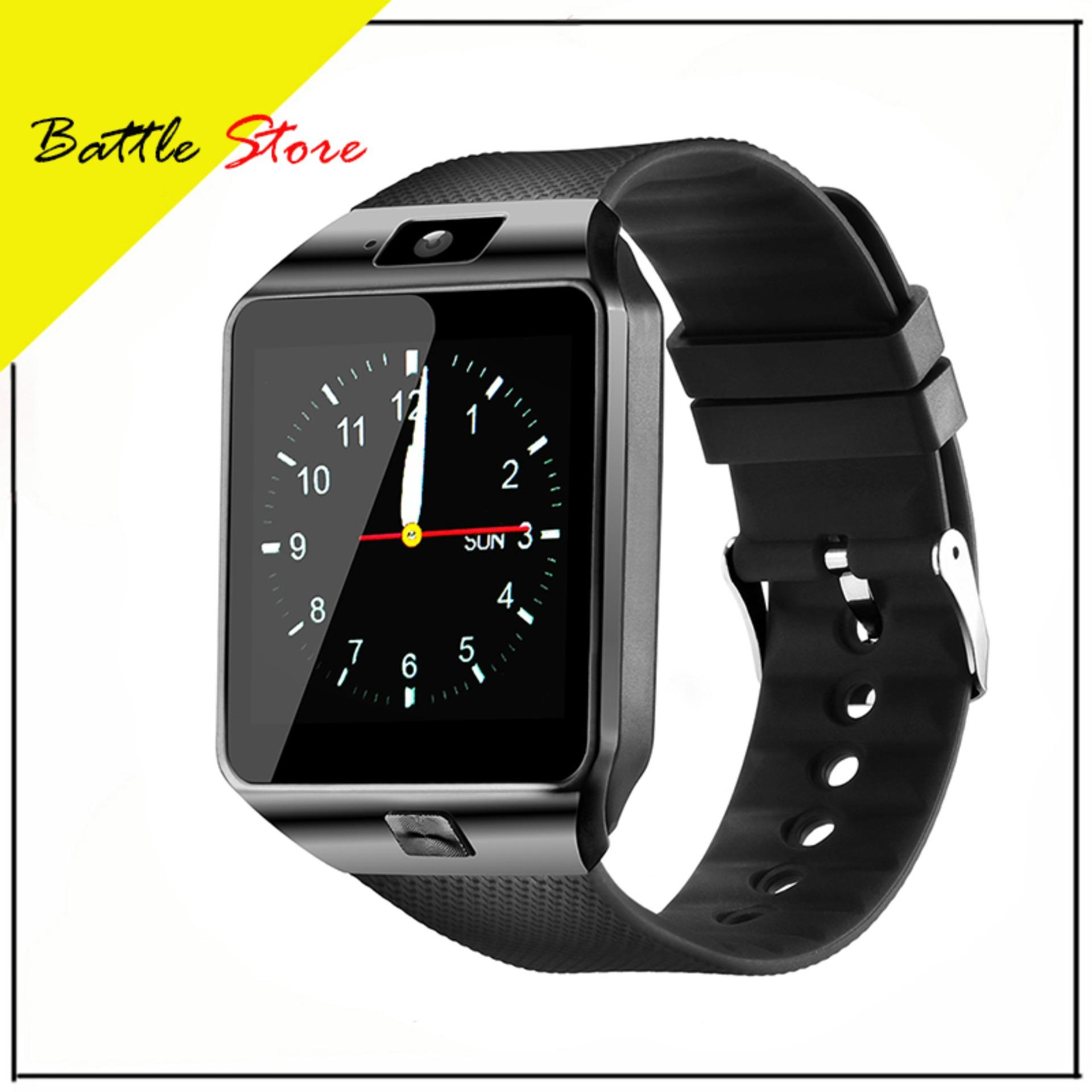 Smartwatch U9 / DZ09 / Smart Watch DZ09 Support Sim Card & Memory Card / Jam Tangan Android - Black