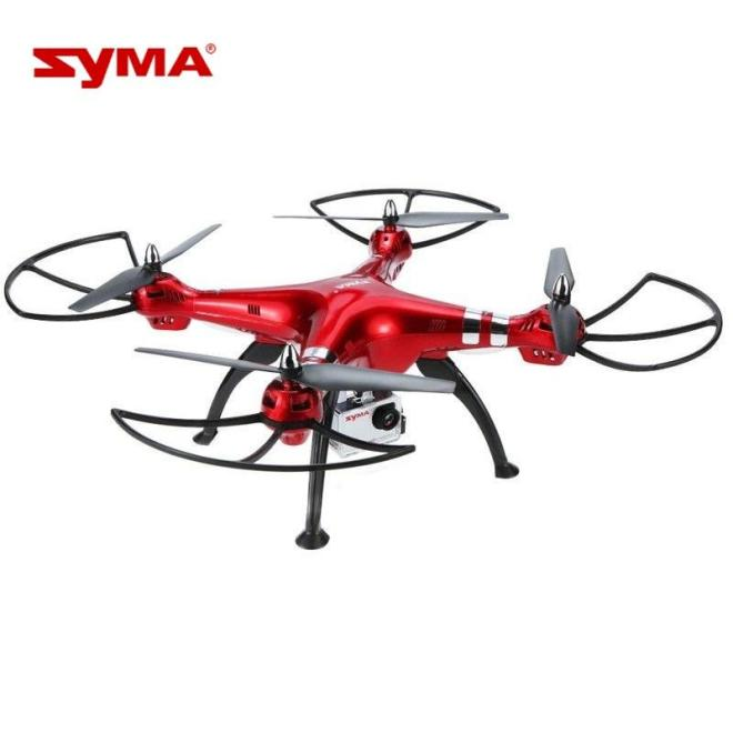 SYMA X8HG RC Drone Quadcopter with 1080P HD Camera 2.4G 4CH with 8MP Fixed High Aviation Luxury Red Colors