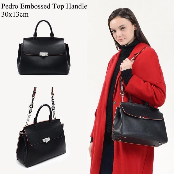 TAS PEDRO EMBOSED TOP HANDLE ORIGINAL