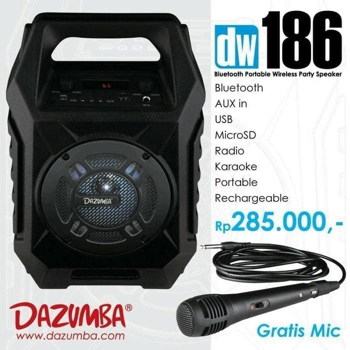 Referensi Speaker Aktif Portable Bluetooth Karaoke and Radio Dazumba DW186 speaker aktif / speaker laptop / speaker super bass