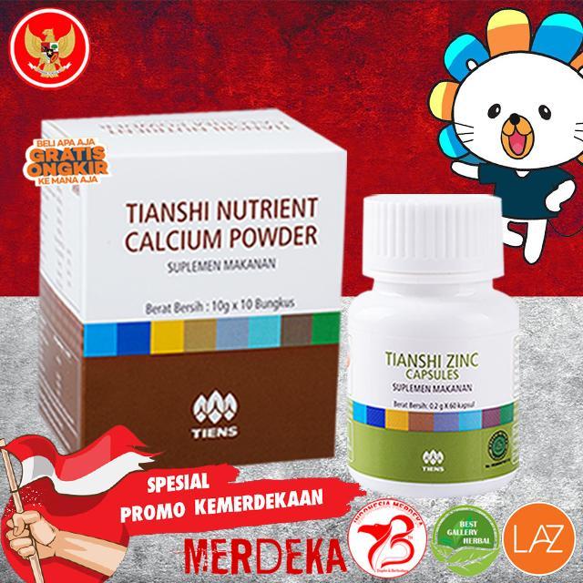 Obat Peninggi Badan Alami Grow Up TIENS Super / Paket 10 Hari  / 1 Box Kalsium Dan 60 Kapsul Zinc (100% Terbukti) / Paling Disukai Di Indonesia / TERBAIK BERKUALITAS Di LAZADA PROMO Murah By Best Gallery Herbal
