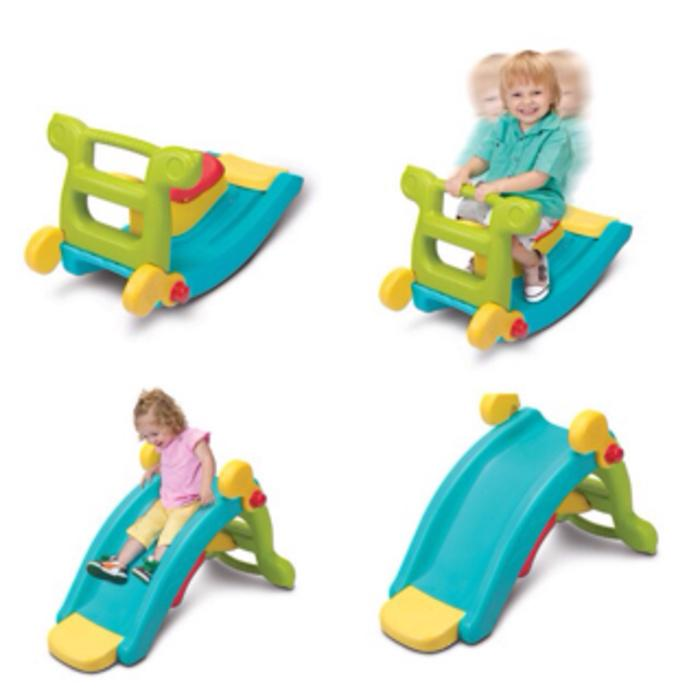 Grow N Up Slide to Rocker 2in1/Mainan Anak Perosotan