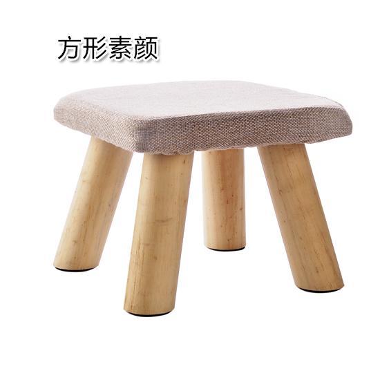 Modis Kain kursi kecil rumah tangga Kayu Murni bangku sofa bangku ganti sepatu bangku sepatu ruang tamu Meja tamu Bangku pendek papan kecil Bangku