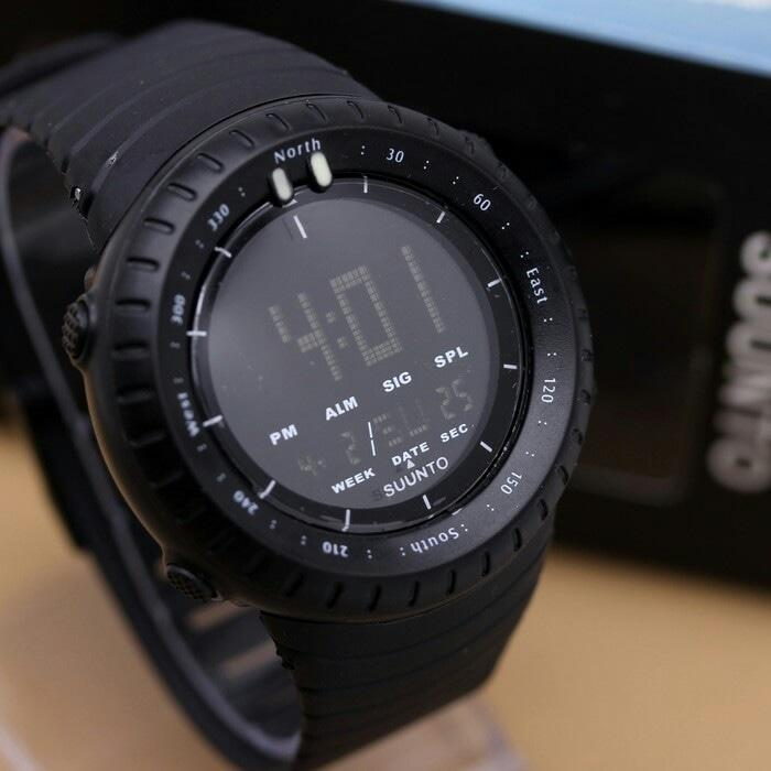 Ar-Rahman - Jam Tangan Suunto Core Black / Hitam Sporty Outdoor Watch Digital / Sport Smart - Black
