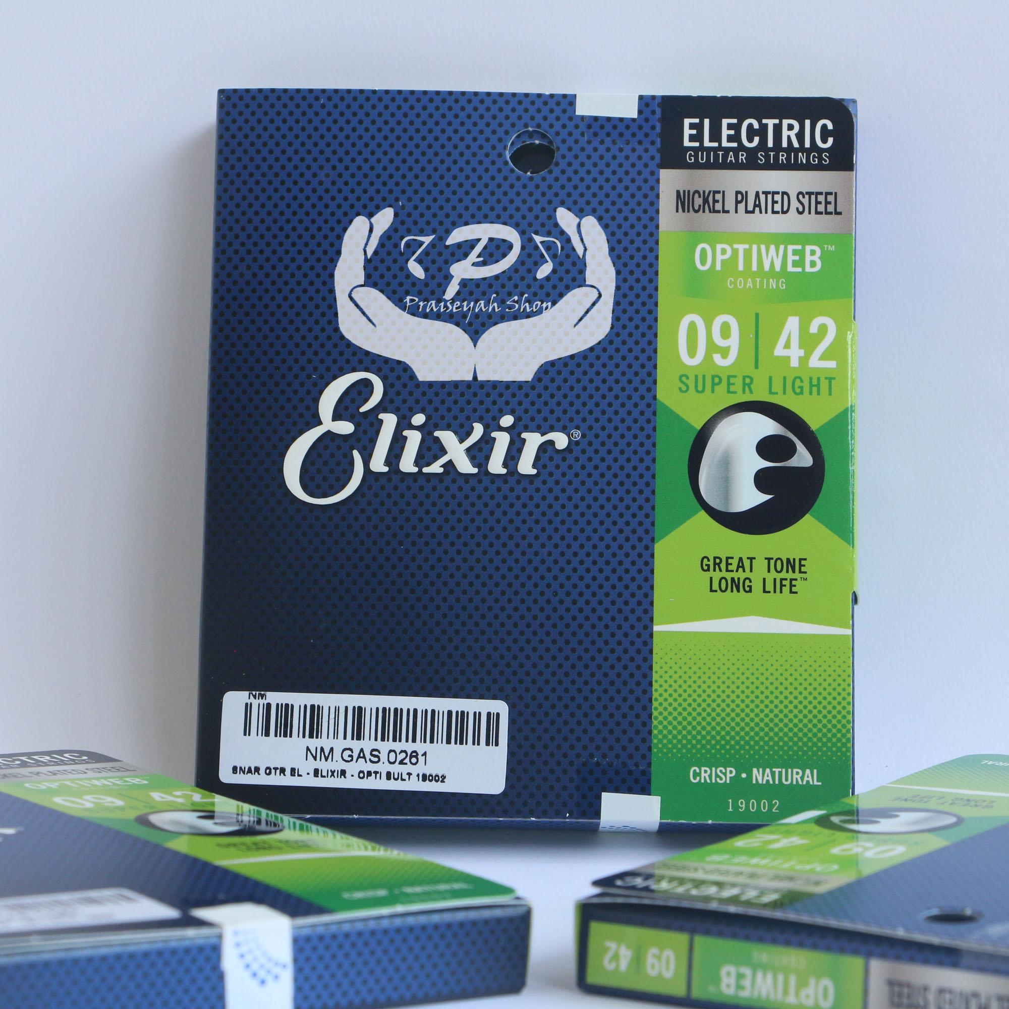 Senar Gitar Elixir Elektrik / Listrik Anti Karat Optiweb ukuran 0.009 - 0.042 (Super Light) Original