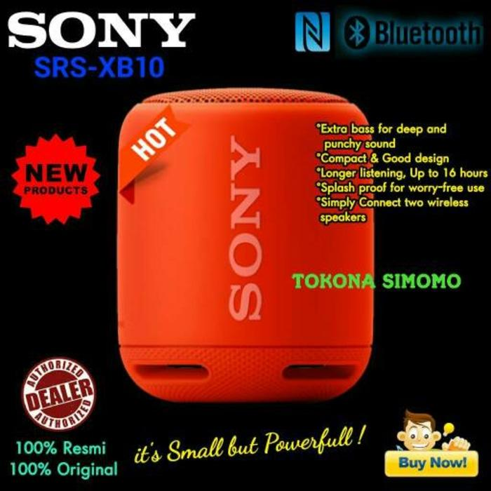 Referensi Speaker Aktif Sony SRS XB10 / XB 10 EXTRA BASS Bluetooth Portable Speaker Original