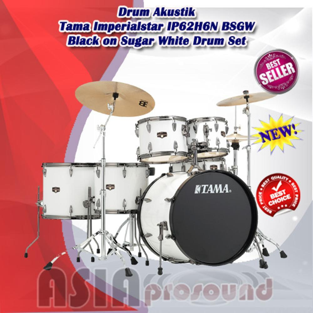 Drum Akustik Tama Imperialstar IP62H6NB SGW Black on Sugar White Drum Set