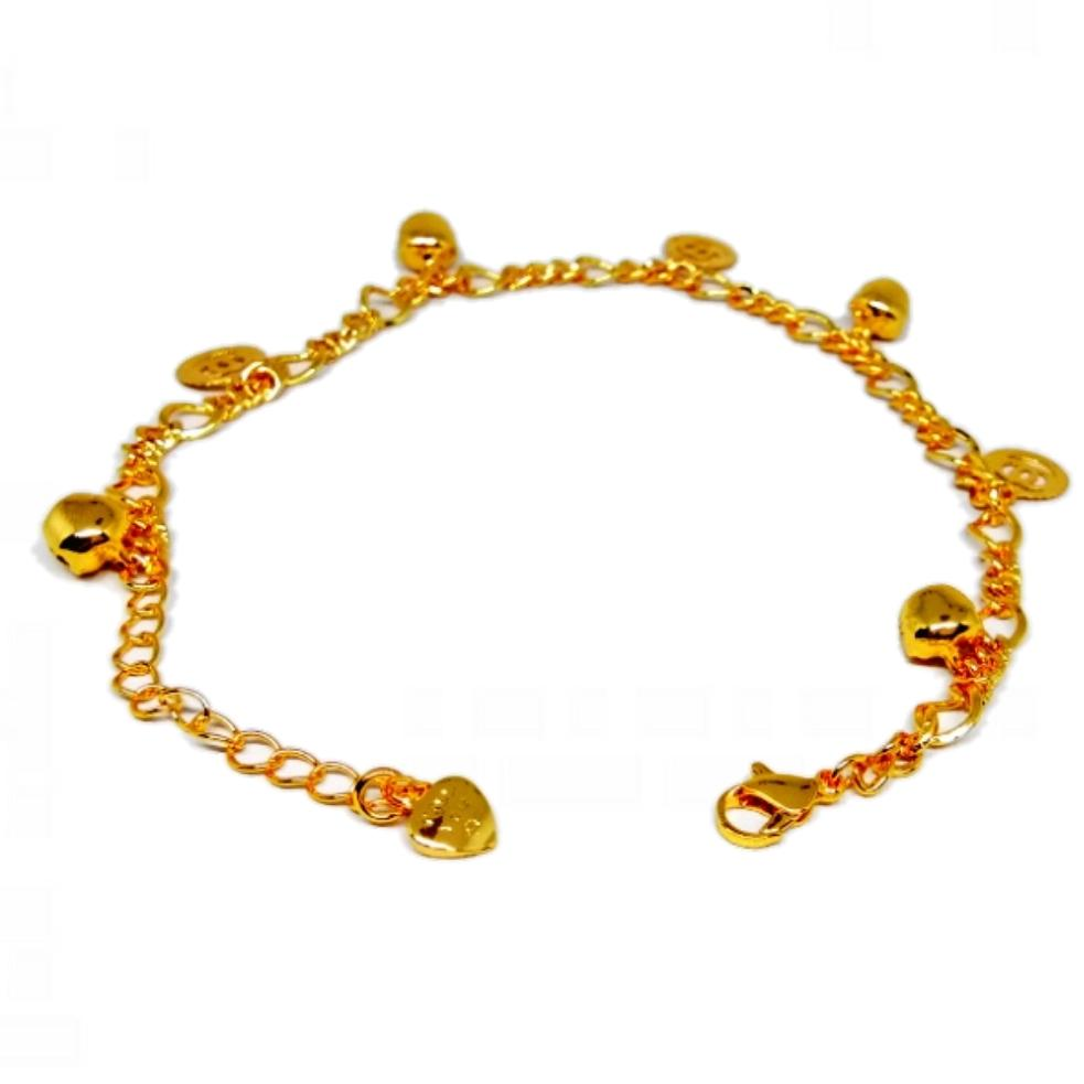 Xuping Gelang Kaki Wanita Fashionable Zaman Now - Xuping Gold Lonceng