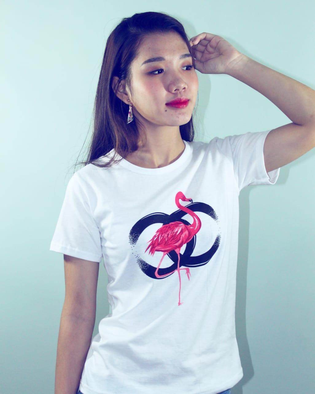 LOLILE KAOS CHANEL FLAMINGO ALL SIZE FIT TO L