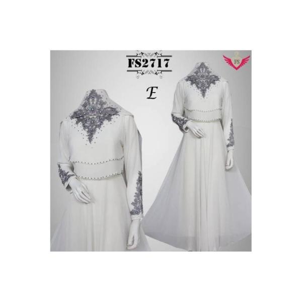 gaun pesta gamis putih baju pengantin murah