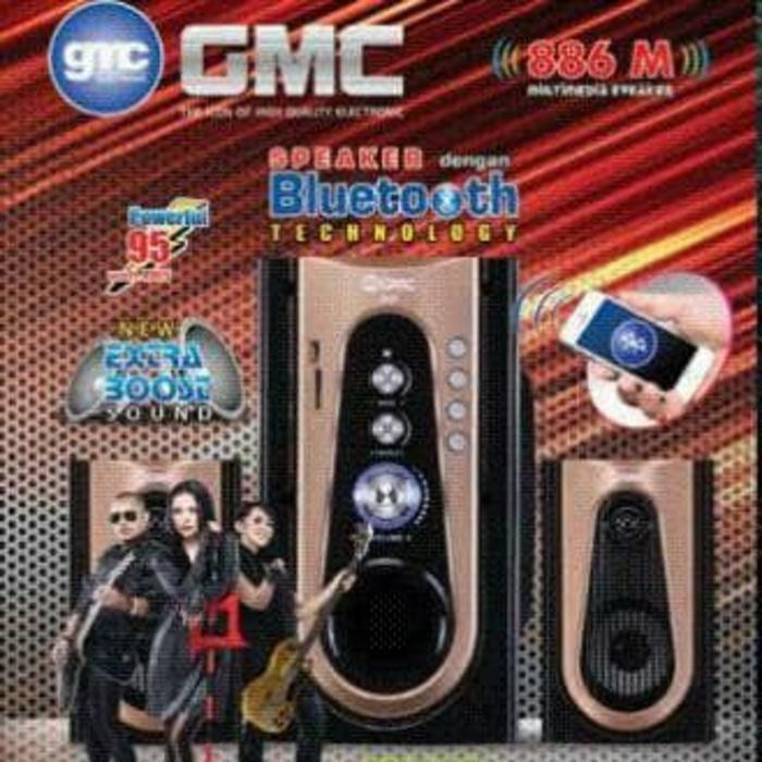 Referensi Speaker Aktif GMC 886M Multimedia Speaker Aktif 2.1Ch - Active Subwoofer - Bluetooth