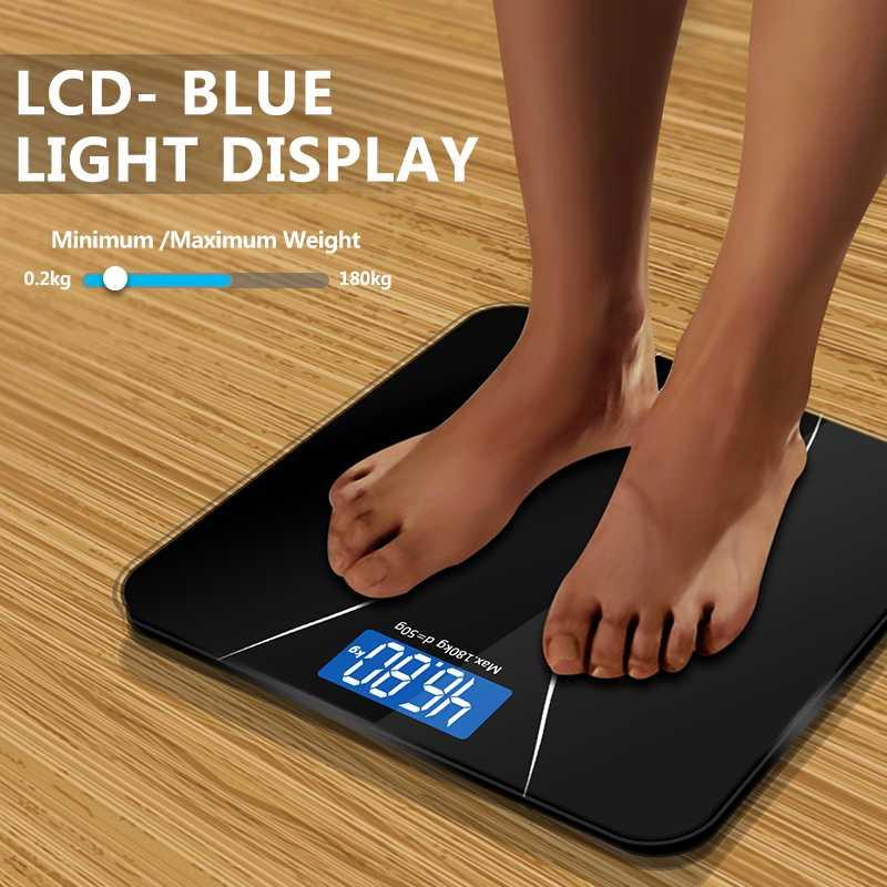 Taffware Timbangan Badan Elektronik 180kg Digital Weight Scale s8793 - Black