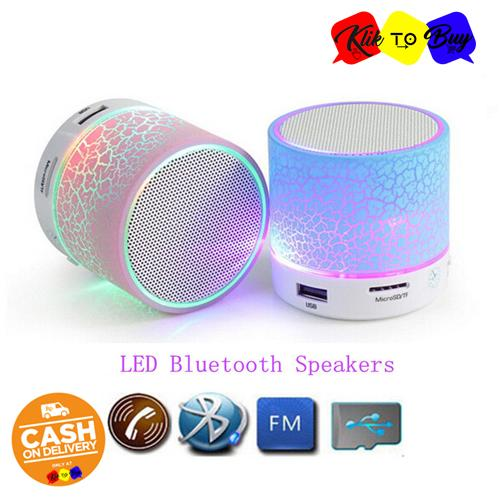 Klik to Buy Promo LED MINI Portable Wireless Bluetooth Speaker TF USB Music Sound Subwoofer Box - Random - 1 Pcs