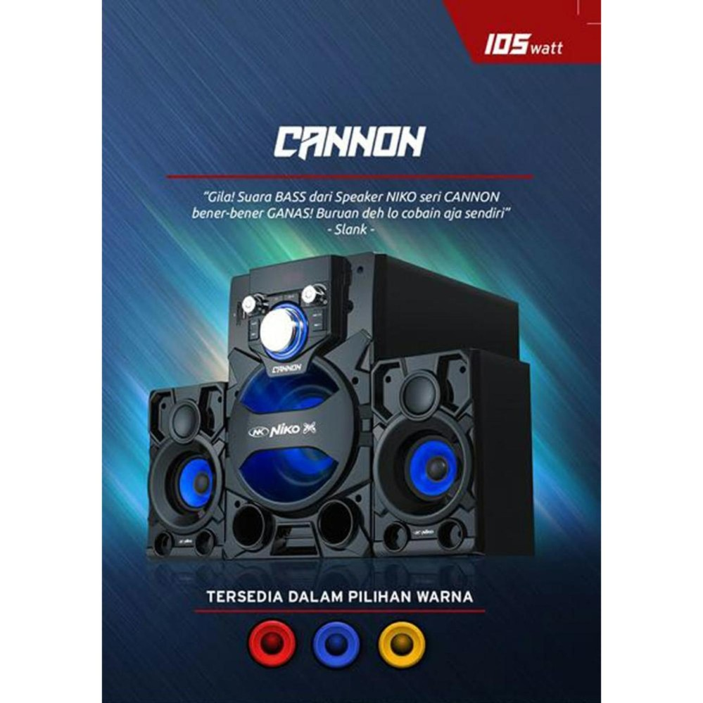 Speaker Aktif Niko Canon Boom Bass Technology