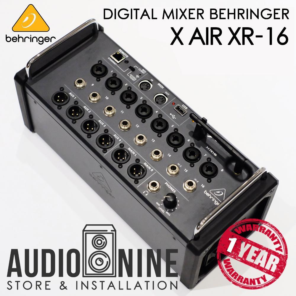Mixer Digital BEHRINGER X Air XR 16 With Wifi And USB Stereo Recorder