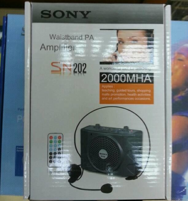 Referensi Speaker Aktif Waistband Sony SN 202 portable wireless