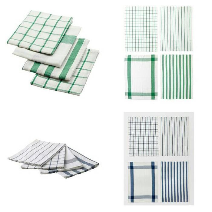 Ikea Elly ~ Lap Dapur  Kitchen Towel  50X65 Cm 1 Set Isi 4 Pcs - Ebjglk