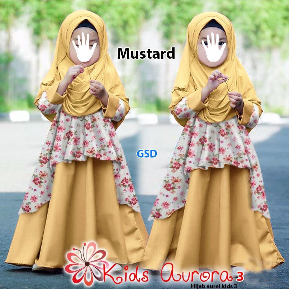 NCR-Baju Anak Cewek/ Baju Muslim anak / Baju Maxi Anak/ Longdress Anak / Hijab Aurel Kids