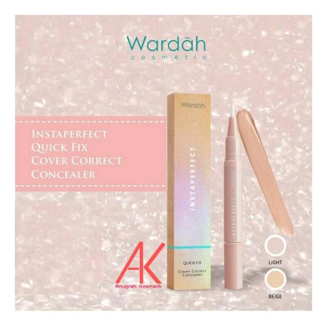 Wardah Instaperfect Quick Fix Cover Correct Concealer (100% ORIGINAL product)
