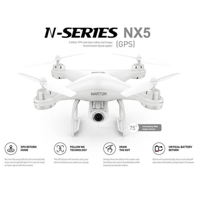 Drone Dengan Dual GPS NSeries NX-5 FPV Camera HD 720p