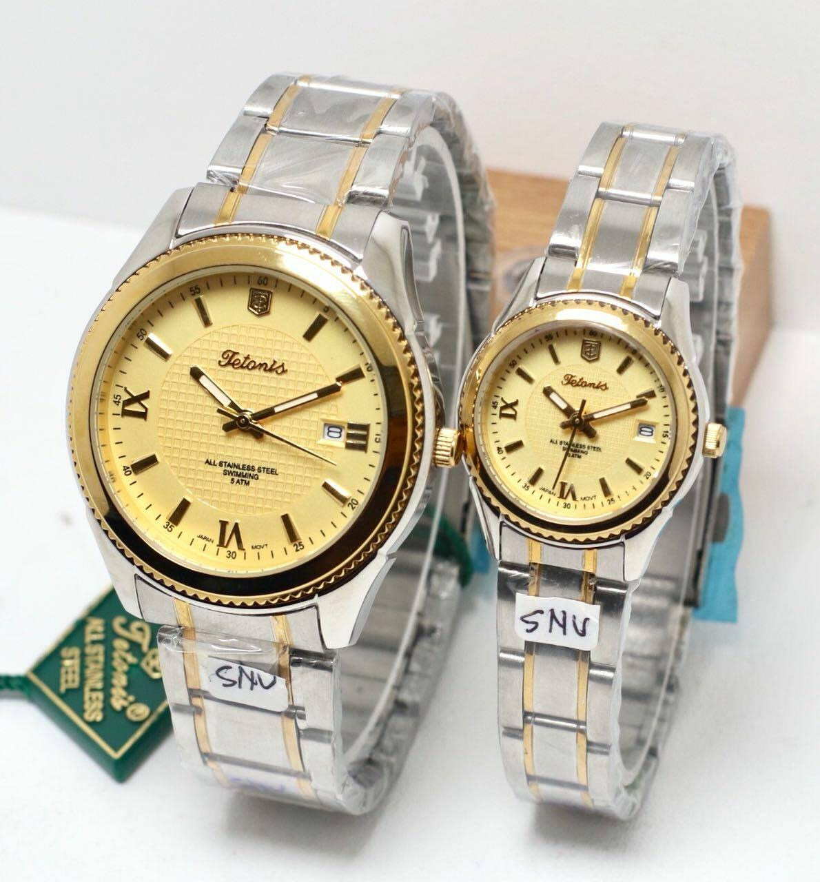 Jam tangan couple Tetonis tanggal aktif