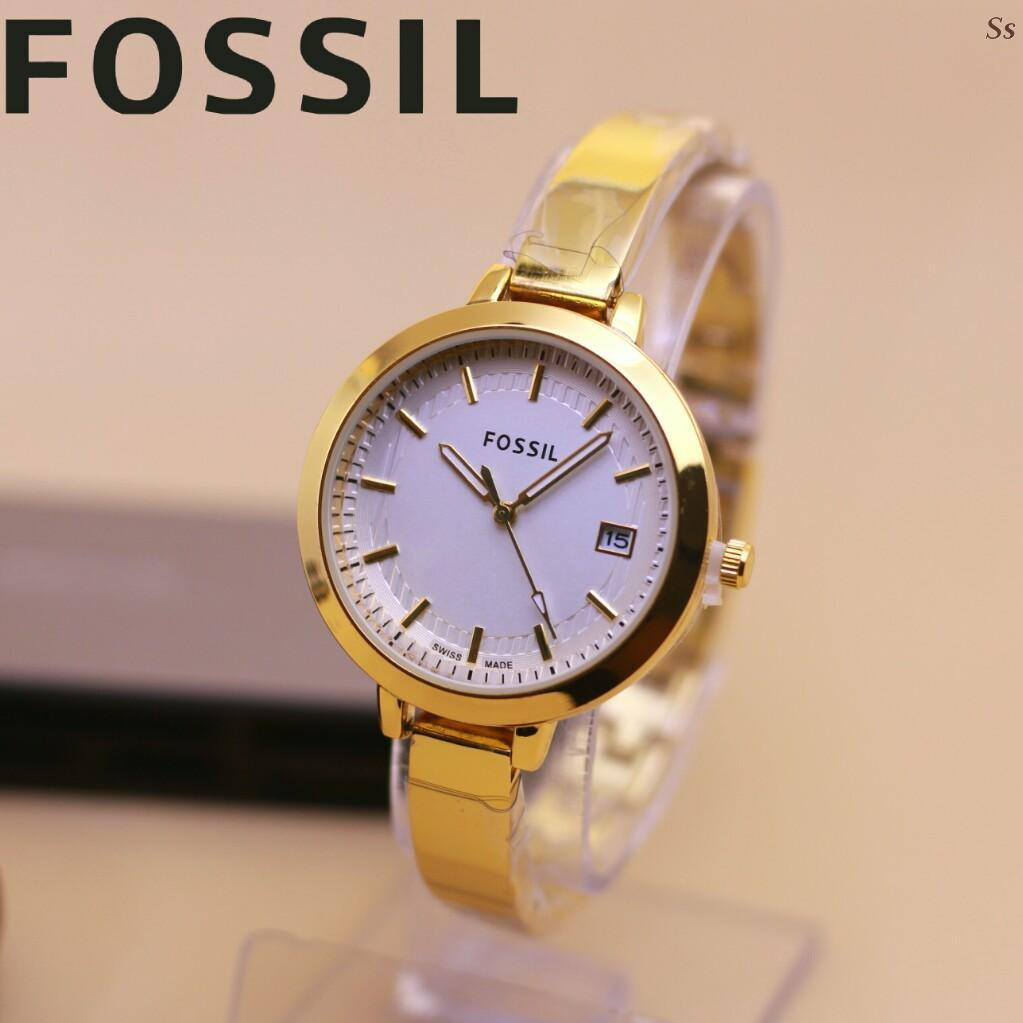 Rekomendasi Jam Tangan Fossil Made In China Terbaik Dan Murah 2018 Pria Minimalist Slim Light Brown Leather Fs5305 Wanita Fashionable Trendy Tangggal Rantai Stainless Steel