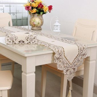 waterproof table cloth hollow embroidered pattern pastoral style size40220 intl