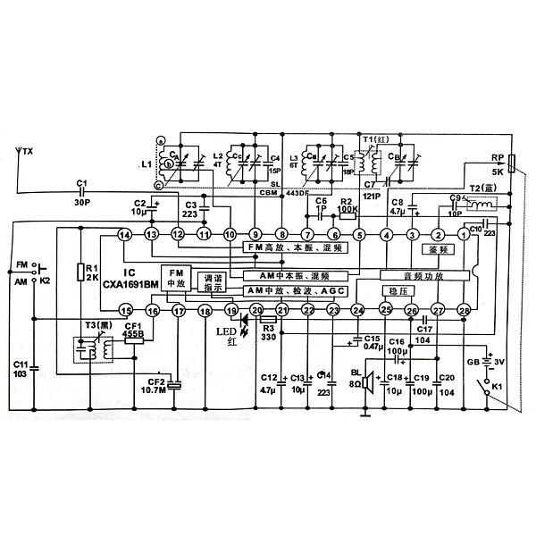 Am Fm Radio Schematic Diagram